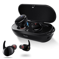 完全ワイヤレス スポーツイヤホン IPX5防水 片耳 両耳とも対応 左右独立型 Bluetooth イヤホン マイク内蔵 ハンズフリー通話 小型 軽量  iPhone Android 対応 防汗防滴